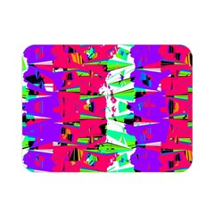 Colorful Glitch Pattern Design Double Sided Flano Blanket (Mini)