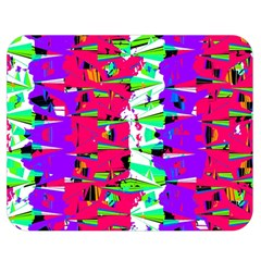 Colorful Glitch Pattern Design Double Sided Flano Blanket (Medium)
