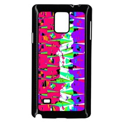 Colorful Glitch Pattern Design Samsung Galaxy Note 4 Case (Black)