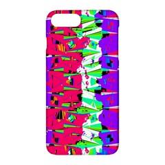Colorful Glitch Pattern Design Apple Iphone 7 Plus Hardshell Case