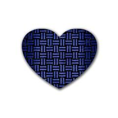 WOV1 BK-MRBL BL-BRSH Heart Coaster (4 pack)