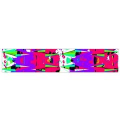 Colorful Glitch Pattern Design Flano Scarf (Small)