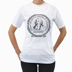 Seal of Berkeley, California Women s T-Shirt (White) (Two Sided)