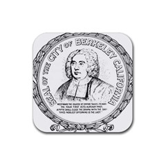 Seal of Berkeley, California Rubber Square Coaster (4 pack)
