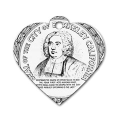 Seal of Berkeley, California Dog Tag Heart (One Side)