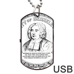 Seal of Berkeley, California Dog Tag USB Flash (One Side)