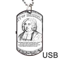Seal of Berkeley, California Dog Tag USB Flash (Two Sides)