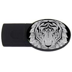 Tiger Head USB Flash Drive Oval (2 GB)