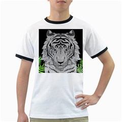 Tiger Head Ringer T-Shirts