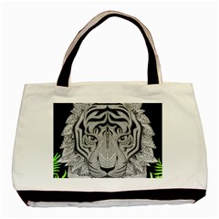 Tiger Head Basic Tote Bag (Two Sides)