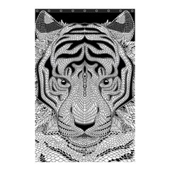 Tiger Head Shower Curtain 48  x 72  (Small)