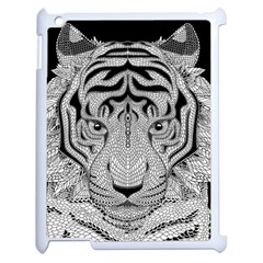 Tiger Head Apple iPad 2 Case (White)