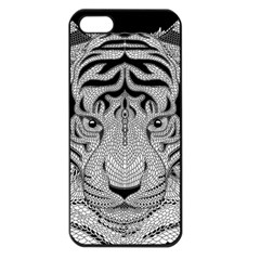 Tiger Head Apple iPhone 5 Seamless Case (Black)