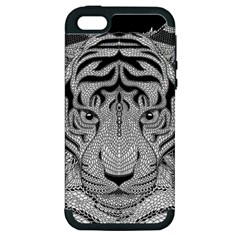 Tiger Head Apple iPhone 5 Hardshell Case (PC+Silicone)