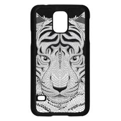 Tiger Head Samsung Galaxy S5 Case (Black)