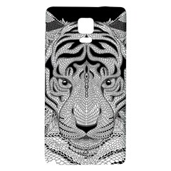 Tiger Head Galaxy Note 4 Back Case