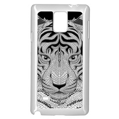 Tiger Head Samsung Galaxy Note 4 Case (White)
