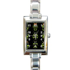 Beetles Insects Bugs Rectangle Italian Charm Watch