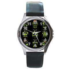Beetles Insects Bugs Round Metal Watch
