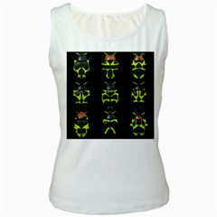 Beetles Insects Bugs Women s White Tank Top