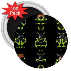 Beetles Insects Bugs 3  Magnets (100 pack)