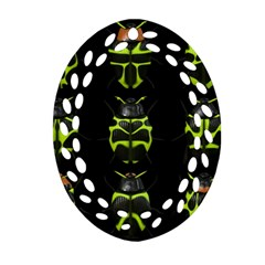 Beetles Insects Bugs Oval Filigree Ornament (Two Sides)
