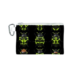 Beetles Insects Bugs Canvas Cosmetic Bag (S)