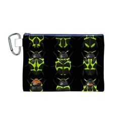 Beetles Insects Bugs Canvas Cosmetic Bag (M)