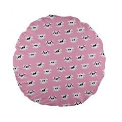 Girly Girlie Punk Skull Standard 15  Premium Flano Round Cushions