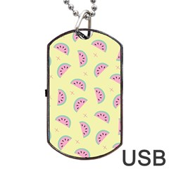 Watermelon Wallpapers  Creative Illustration And Patterns Dog Tag USB Flash (One Side)
