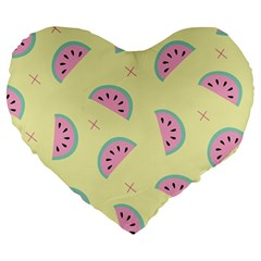Watermelon Wallpapers  Creative Illustration And Patterns Large 19  Premium Heart Shape Cushions