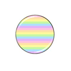 Cute Pastel Rainbow Stripes Hat Clip Ball Marker