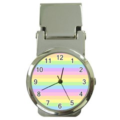 Cute Pastel Rainbow Stripes Money Clip Watches