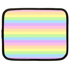 Cute Pastel Rainbow Stripes Netbook Case (Large)