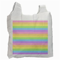 Cute Pastel Rainbow Stripes Recycle Bag (Two Side)
