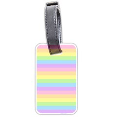 Cute Pastel Rainbow Stripes Luggage Tags (One Side)