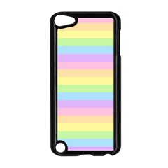 Cute Pastel Rainbow Stripes Apple iPod Touch 5 Case (Black)