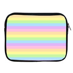 Cute Pastel Rainbow Stripes Apple iPad 2/3/4 Zipper Cases