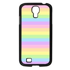 Cute Pastel Rainbow Stripes Samsung Galaxy S4 I9500/ I9505 Case (Black)