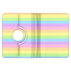 Cute Pastel Rainbow Stripes Kindle Fire HDX Flip 360 Case