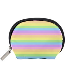 Cute Pastel Rainbow Stripes Accessory Pouches (Small)