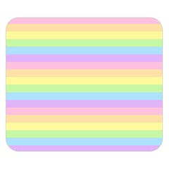 Cute Pastel Rainbow Stripes Double Sided Flano Blanket (Small)