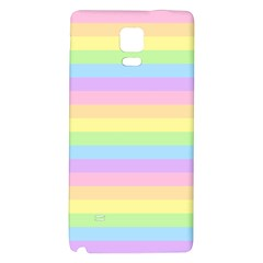 Cute Pastel Rainbow Stripes Galaxy Note 4 Back Case