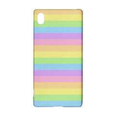 Cute Pastel Rainbow Stripes Sony Xperia Z3+