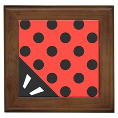 Abstract Bug Cubism Flat Insect Framed Tiles