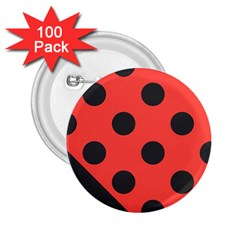 Abstract Bug Cubism Flat Insect 2.25  Buttons (100 pack)
