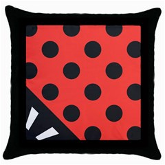 Abstract Bug Cubism Flat Insect Throw Pillow Case (Black)