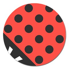 Abstract Bug Cubism Flat Insect Magnet 5  (Round)