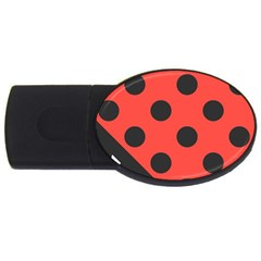Abstract Bug Cubism Flat Insect USB Flash Drive Oval (2 GB)