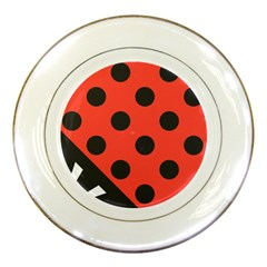 Abstract Bug Cubism Flat Insect Porcelain Plates